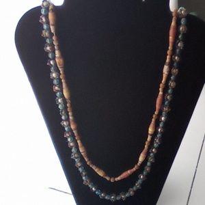 2 Piece Fashion Necklaces. Super Cute & Long